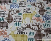 Flannel Fabric - Black Bear Ranch - By the Yard - 100% Cotton Flannel