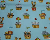 Flannel Fabric - Animals of Noah's Ark - By the yard - 100% Cotton Flannel
