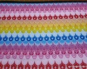 Flannel Fabric - Multicolor Scales - By the Yard - 100% Cotton Flannel