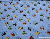 Flannel Fabric - Choo Choo Train - By the yard - 100% Cotton Flannel