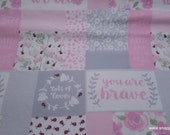 Flannel Fabric - Hazel Patchwork - By the yard - 100% Cotton Flannel