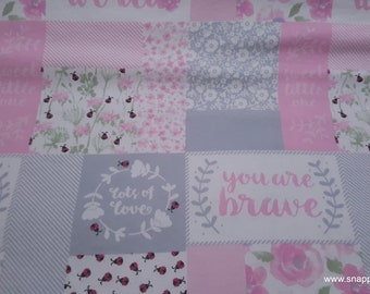 By the yard Flannel Fabric Hazel Portrait Friends 100/% Cotton Flannel