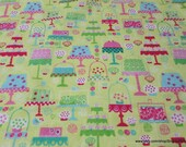 Flannel Fabric - Cake Shop - By the yard - 100% Cotton Flannel