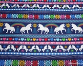Christmas Flannel Fabric - Unicorn Fair Isle - By the yard - 100% Cotton Flannel