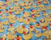 Flannel Fabric - Captain Duckie - By the yard - 100% Cotton Flannel