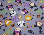 Flannel Fabric - Tsum Tsum Specstackular Halloween - By the yard - 100% Cotton Flannel