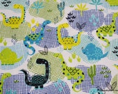 Flannel Fabric - Dino Desert Allover - By the yard - 100% Cotton Flannel