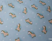 Flannel Fabric - Safari Giraffes Tossed - By the yard - 100% Cotton Flannel