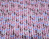 Flannel Fabric - Emma Leaves - By the yard - 100% Cotton Flannel