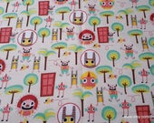 Flannel Fabric - Imaginary Friends - By the yard - 100% Cotton Flannel