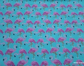 Flannel Fabric - Water Flamingos - By the yard - 100% Cotton Flannel