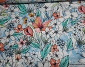Flannel Fabric - Hawaiian Flowers - By the Yard - 100% Cotton Flannel