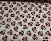Flannel Fabric - Minnie Mouse Loves Fall - By the yard - 100% Cotton Flannel