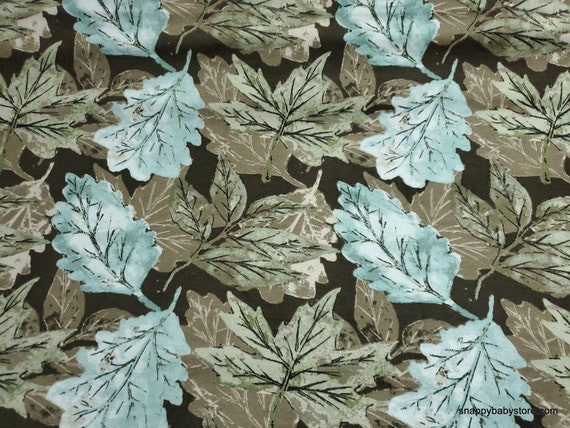Flannel Fabric - Fall Leaves Brown - By the yard - 100% Cotton Flannel
