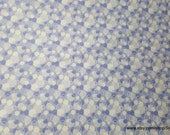 Flannel Fabric - Periwinkle Bubbles - By the Yard - 100% Cotton Flannel