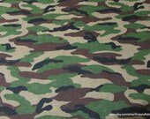 Flannel Fabric - Camo - By the yard - 100% Cotton Flannel