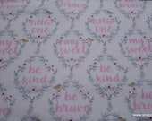 Flannel Fabric - Hazel Be Brave - By the yard - 100% Cotton Flannel