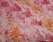 Flannel Fabric - Watercolor Roses - By the yard - 100% Cotton Flannel