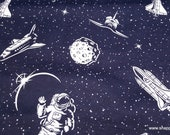 Flannel Fabric - Astronaut Fun - By the yard - 100% Cotton Flannel