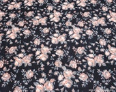 Flannel Fabric - Coral Vintage Rose - By the yard - 100% Cotton Flannel