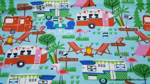 Flannel Fabric - Camping Adventures - By the Yard - 100% Cotton Flannel