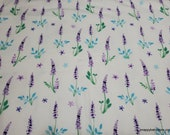 Flannel Fabric - Butterfly Plant - By the yard - 100% Cotton Flannel