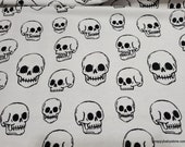Flannel Fabric - Skulls - By the yard - 100% Cotton Flannel