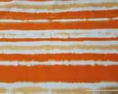 Flannel Fabric - Sun Orange Stripe TieDye - By the yard - 100% Cotton Flannel