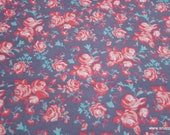 Flannel Fabric - Ava Vintage Roses - By the yard - 100% Cotton Flannel