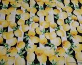 Flannel Fabric - Lemon Stripe - By the yard - 100% Cotton Flannel