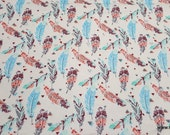 Flannel Fabric - Ombre Feathers - By the yard - 100% Cotton Flannel