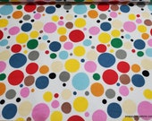 Flannel Fabric - Alphabet Dots  - By the yard - 100% Cotton Flannel