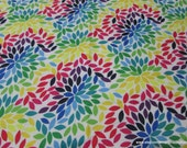 Flannel Fabric - Bright Mums  - 1 yard - 100% Cotton Flannel