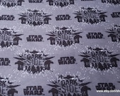 Character Flannel Fabric - Star Wars VIII Dark Side - By the yard - 100% Cotton Flannel