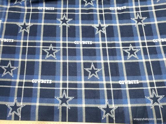 Team Flannel Fabric - Dallas Cowboys Plaid - By the yard - 100% Cotton Flannel