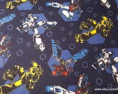 Character Flannel Fabric - Transformers Retro - By the yard - 100% Cotton Flannel