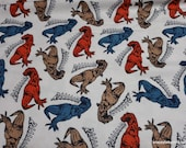 Flannel Fabric - Scary Trex - By the yard - 100% Cotton Flannel