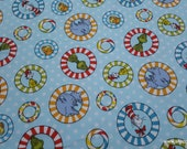 Character Flannel Fabric - Dr Seuss Tossed - By the yard - 100% Cotton Flannel