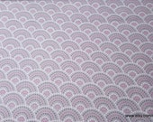 Flannel Fabric - Gray Pink Dotted Scales - By the yard - 100% Cotton Flannel