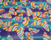 Flannel Fabric - Rainbow Butterfly - By the yard - 100% Cotton Flannel