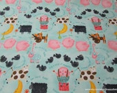 Flannel Fabric - Nursery Rhyme Allover - By the yard - 100% Cotton Flannel