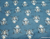 Character Flannel Fabric - Nightmare Before Christmas Jack Web Frame - By the Yard - 100% Cotton Flannel