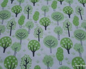 Flannel Fabric - Deer Trees - By the yard - 100% Cotton Flannel