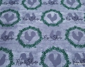 Flannel Fabric - Rise and Shine Rooster- By the yard - 100% Cotton Flannel
