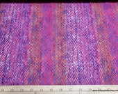 Flannel Fabric - Purple Orange Geo Luxe - By the yard - 70% Rayon, 30 Cotton