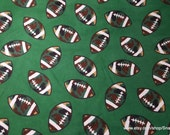 Flannel Fabric - Camo Football - By the yard - 100% Cotton Flannel