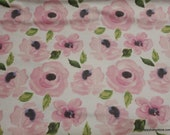 Flannel Fabric - Hazel Watercolor Floral - By the yard - 100% Cotton Flannel