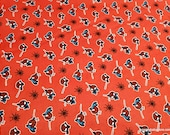 Character Flannel Fabric - Spiderman Kawaii on Red - By the yard - 100% Cotton Flannel