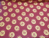 Character Flannel Fabric - Harry Potter Platform 9 & 3/4 Red - By the yard - 100% Cotton Flannel