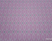 Flannel Fabric - Pink with Gray Geo - By the yard - 100% Cotton Flannel